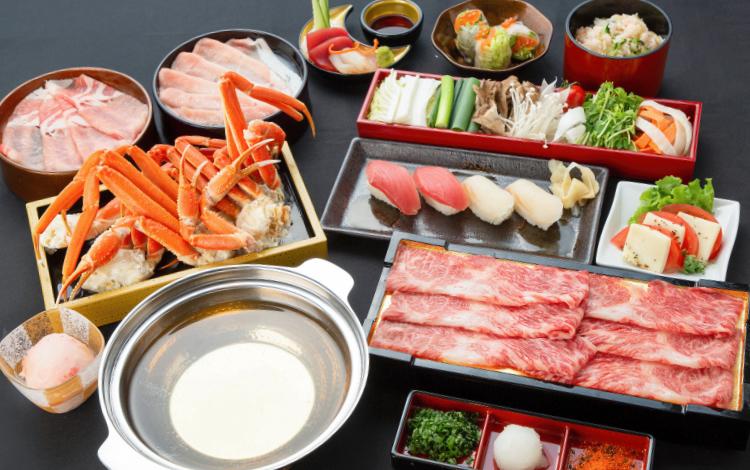 ズワイ蟹&寿司しゃぶしゃぶ食べ放題